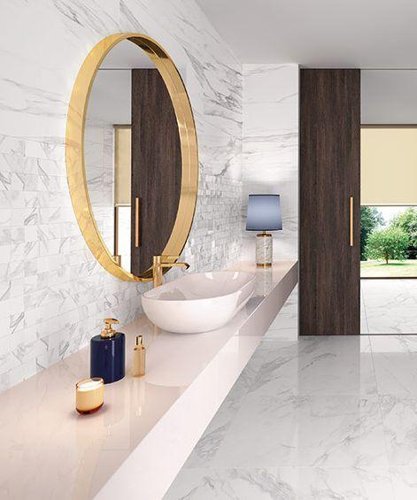 Marmorglanz Und Altrosa Badezimmer Einrichtung Fliesen Bad Inspiration