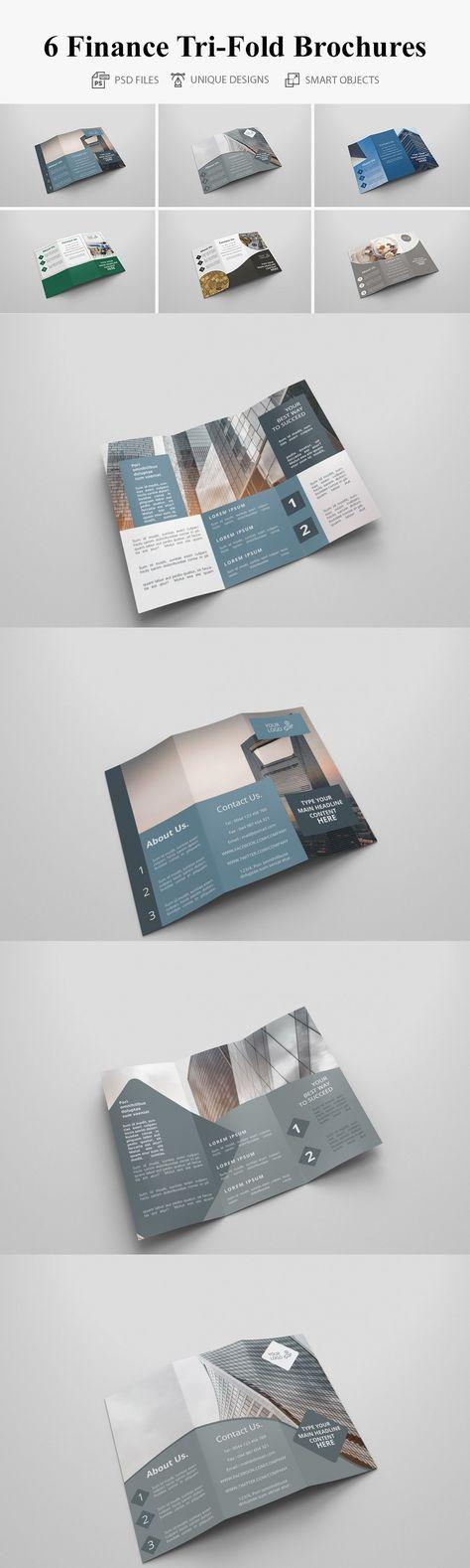 6 Finance Tri Fold Bochures