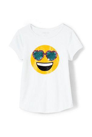 dfad11fec8ce Girls' Dipped Hem T-shirt With Flip Sequin Motif | Flip! | Shirts, T ...
