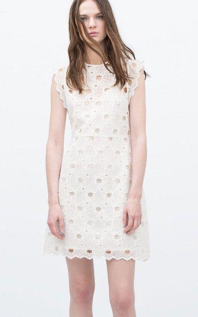 Gupurlu Sik Zara Elbise Modelleri Kadinlive Com Dantel Elbise Yazlik Kiyafetler Sonbahar Elbiseleri