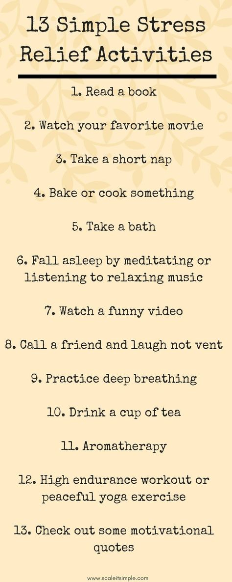 Learn the best way to relieve stress through these 13 stress relief activities. Relax, recharge and refresh your mind, body and spirit.
