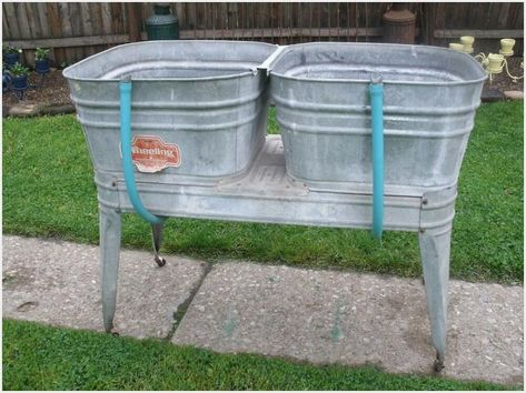 Vintage Galvanized Wash Tub Sink Ideas Wash Tub Sink Wash Tubs Galvanized Wash Tub