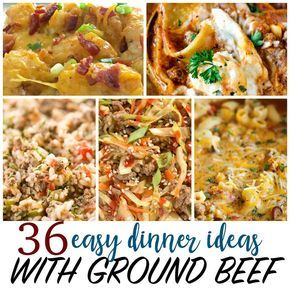 Cheap Recipes 36 Things To Make With Ground Beef Cheap Easy Meals Dinner With Ground Beef Beef Dinner