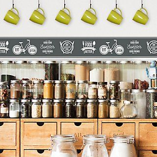 Cenefa Adhesiva Pizarra Food 5mx15cm Leroy Merlin Cenefa Para Cocina Pizarra Cenefa