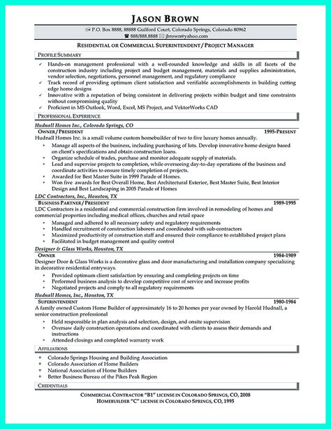 Construction Manager Resume Can Be Designed For A Professional Construction Manager Either Expe Project Manager Resume Medical Assistant Resume Manager Resume