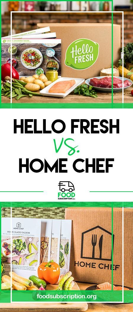 Compare Between The Best Food Subscription Boxes Available Hello Fresh Vs Home Chef Hellofresh Homechef Blueapron Food Subscriptions Home Chef Recipes