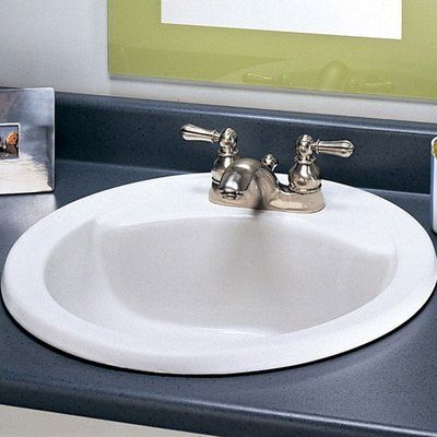American Standard Cadet Ceramic Circular Drop In Bathroom Sink