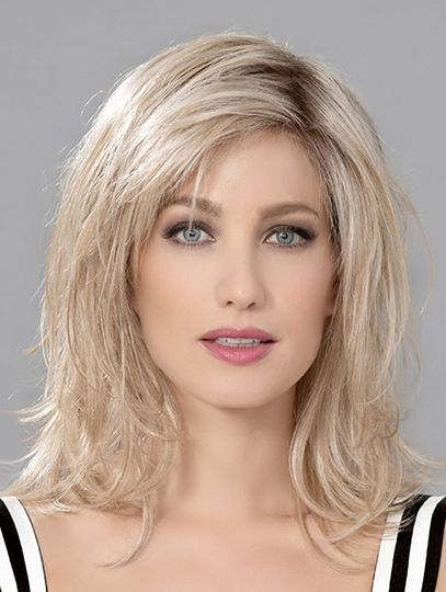 Layered Monofilament Shoulder Length Blonde 12 Human Hair Wigs Cheap In 2020 Human Hair Wigs Shoulder Length Blonde Wig Hairstyles