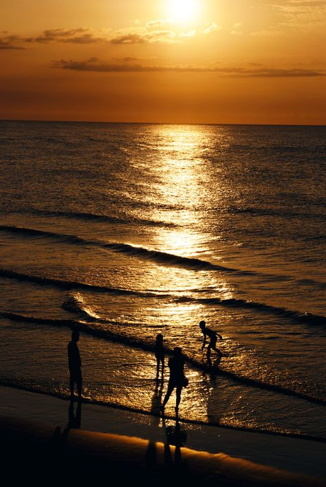 A family in the sunset - by Hanson Mao
