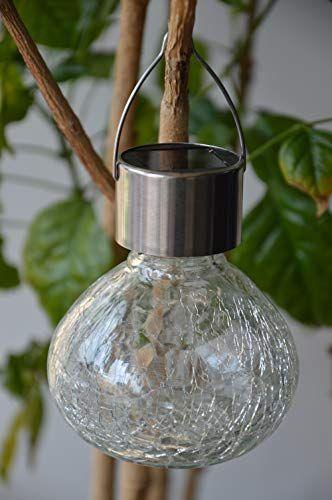 Solar Table Light Glass Ball Table Lamp Decorations Tree Lights Outdoor Waterproof Hanging Solar Lantern Warm White Led Mason Jars Tabletop For Gift Party Decor Solar Hanging Lanterns Light Table Decorative