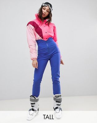 Asos 4505 Tall Ski Jumpsuit In Color Block With Funnel Neck Ski Jumpsuit Fashion Snowboarding Style