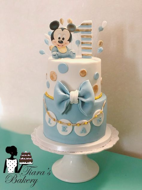baby mickey mouse cake design 2+ Ideas Baby Boy Cake Mickey Mouse  Baby mickey mouse cake