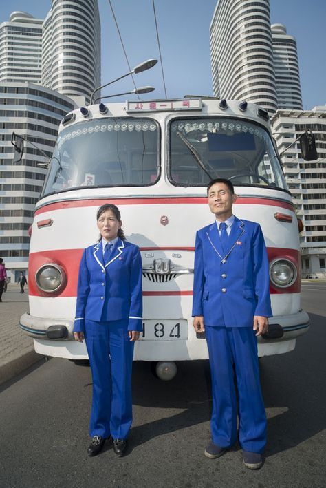 """Visitors to Pyongyang are given the opportunity to tour the capital in an historic bus."" Picture: Mark Edward Harris"