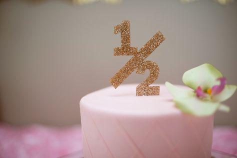 Glitter Half 1 2 Cake Topper