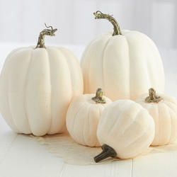 Click Here For A Larger View Artificial Pumpkins Pumpkin Topiary White Pumpkins