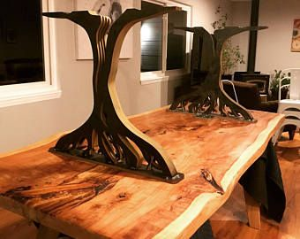 Image Result For Oak Tree Table Legs Live Edge Table Dining Rooms Coffee Table Legs Metal Table Legs