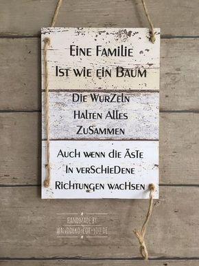 Eine Familie Ist Wie Ein Baum Zitat Holzschilder