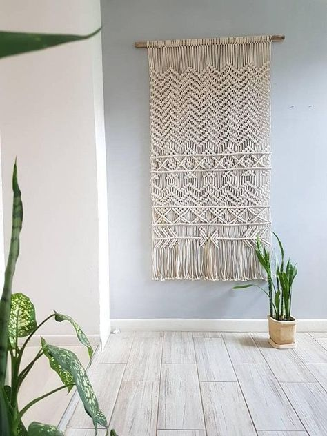 Add a boho vibe to your dorm with this beautiful boho home decor! This macrame will express your artistic personality and free spirit! Check out for more macrame tapestries and decor at: www.etsy.com/shop/BohoDaisyStudio