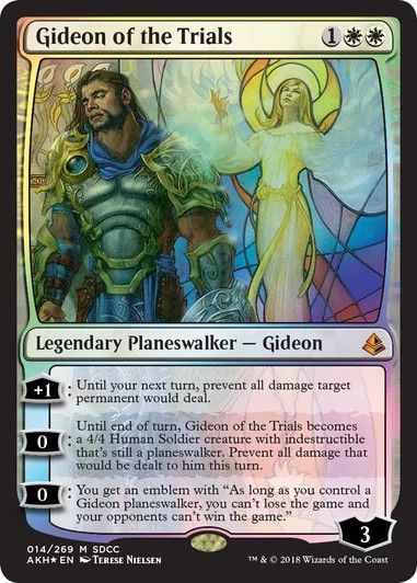 Gideon of the Trials Amonkhet AKH MTG Mythic Rare White Planeswalker Magic Card