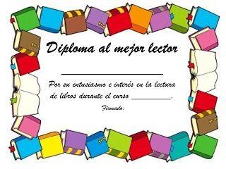 Mis Cositas De Profe Diploma Al Mejor Lector