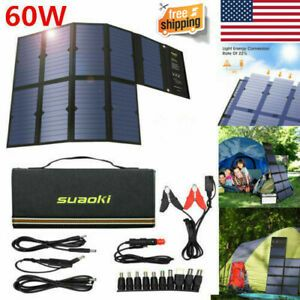 Suaoki 120w Solar Powered Panel Charger Dc12 18v Foldable Sun Solar Power Panels 669818162999 Ebay Solar Power Panels Solar Power Solar Power Diy