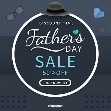 Black Simple Atmospheric Pop Geometric Dots Fathers Day Promotion Banner Logo Design Free Templates Fathers Day Banner Logo Design Template