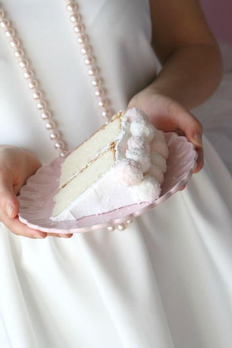 Pretty in Pink Coconut Cake