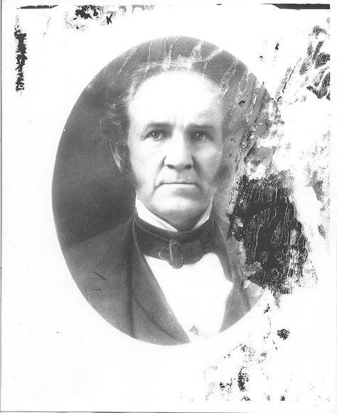 Portrait of Sam Houston.