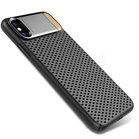 Iphone X Case Fashion Original Hollow Cooling Kickstand Mesh Phone Case For Iphone X Cover Case Breathable Hard Pc Ant Iphone Cases Pc Cases Amazon Phone Cases