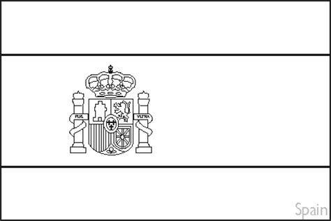 Spain Flag Printable Sweet Spain Flag Outline Spanish Free Printable Colouring Pages Spanish Flags Flag Coloring Pages Spain Flag