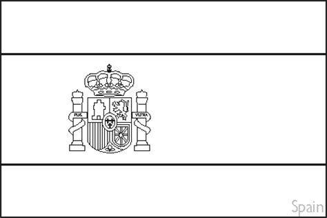 Spain Flag Printable Sweet Spain Flag Outline Spanish Free