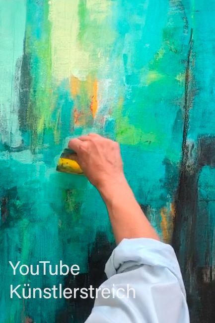 youtube abstrakte malerei acryl acrylmalerei abstrakt kunstdrucke moderne etsy