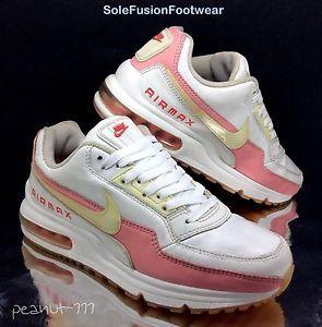 Nike Air Max 2 Womens White Pink Running Trainers sz 6 LTD