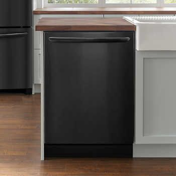 Frigidaire Gallery 24 In Black Stainless Steel Built In Dishwasher With Saharadry System Frigidaire Gallery Built In Dishwasher Black Stainless Steel