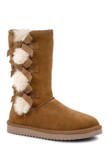 Ugg boots with bows, Fur boots