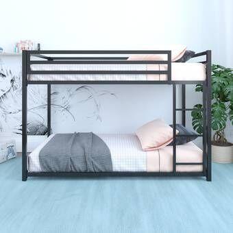 Almedacheatham Full Over Full Bunk Bed In 2020 Metal Bunk Beds