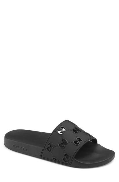 Gucci Slippers Pursuit Gg Logo Slide Sandal Mens Sandals Womens Sandals Slide Sandals