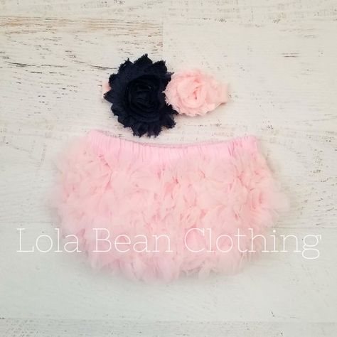 429abf747 Baby Girl Ruffle Bottom Bloomer and Headband Set