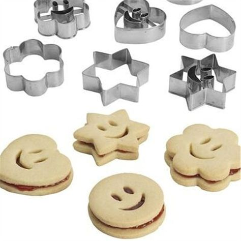 Emoji Heart Five-pointed Star Love Stainless Steel Metal Smile Cookie Biscuit Cake Baking Mold Tools Sandwich Fruit Cutter