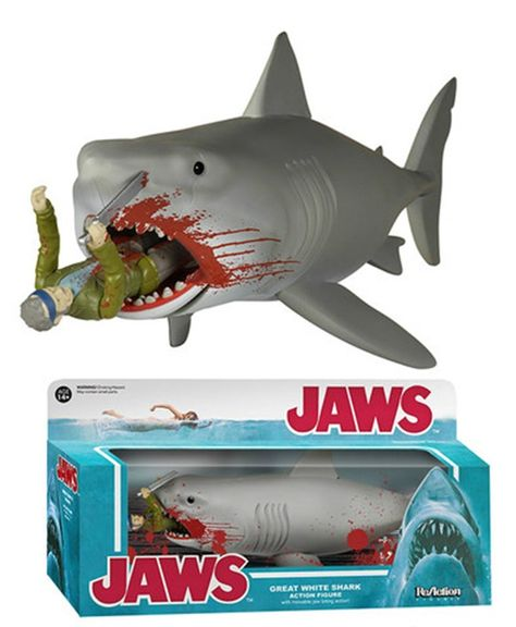 Jaws Eating Quint Is The Most Ridiculous Funko Figure Yet Shark Great White Shark Retro Toys