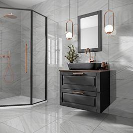 Marsden Light Grey Polished Glazed Porcelain 600x600mm Light Grey Bathrooms Grey Bathroom Tiles Gray Polish
