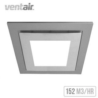 Ventair Airbus Square With Led Light 200 Ceiling Exhaust Fan Silver Bathroom Fan Light Bathroom Exhaust Bathroom Vent Fan