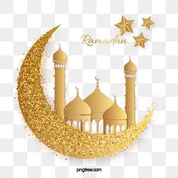 بريق ذهبي لكنيسة رمضان الفخمة Png و Psd ة Lukisan Idul Fitri Logo Keren