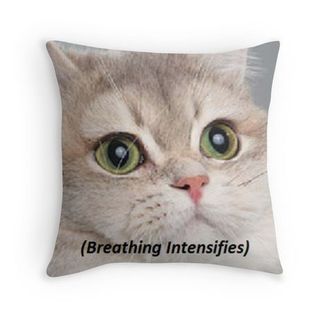 Breathing pillow ' Throw Pillow by