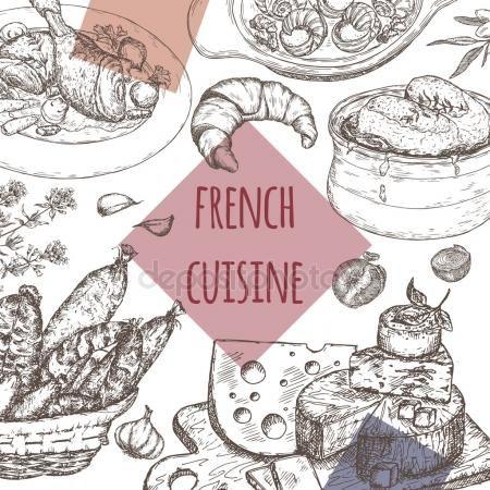 Descargar Plantilla De La Cocina Francesa Incluye Sopa De Cebolla Pollo Queso Embutidos Caracoles Il Sopa De Cebolla Cocina Francesa Grafico Vectorial