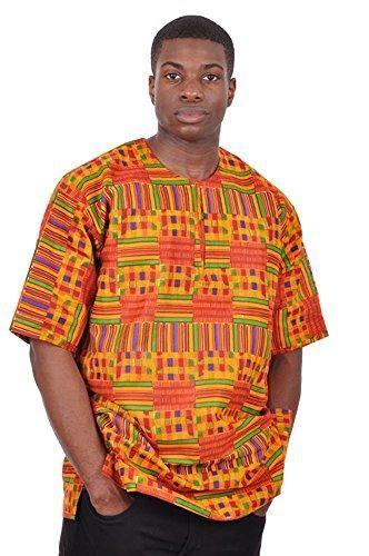 b7351947bcf Men Kente African Print Dashiki Shirt