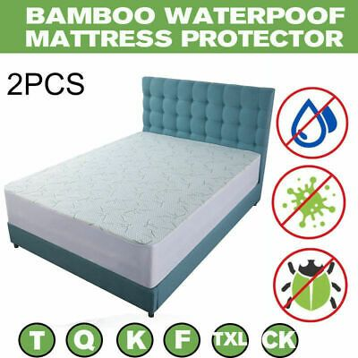 Advertisement 2x Mattress Cover Protector Waterproof Pad Cl King Size Bed Cover Hypoallergenic In 2020 King Size Bed Covers Mattress Covers Mattress