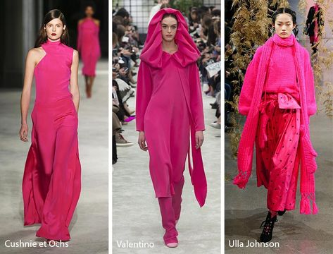 Fall/ Winter Color Trends - Fall 2018 Runway Colors pink color for fall 2018 - Pink Things
