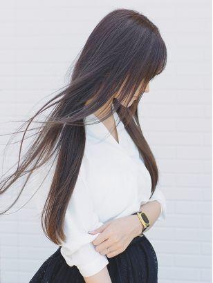 2019年夏 ロング ストレート モテ 愛されの髪型 ヘアアレンジ 人気順 4ページ目 ホットペッパービューティー ヘアスタイル ヘアカタログ ヘアスタイル 黒髪 ロング ストレート 髪型