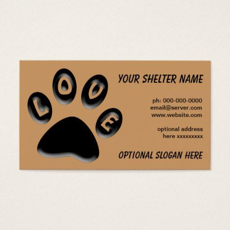 Paw Print Business Card For Shelters Rescue Vet Business Card Zazzle Com Printing Business Cards Paw Print Business Binders